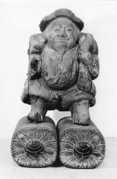 木造 大黒天立像(応永19年〈1412〉銘) 【修理前】正面