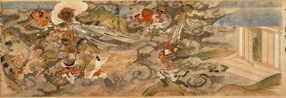 神奈川県指定文化財 長谷寺縁起絵巻 中巻 第八段 弘治3年(1557)