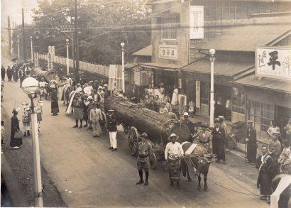観音堂復興再建のための御用材 昭和5年(1930)