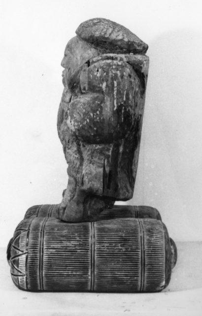 木造 大黒天立像(応永19年〈1412〉銘) 【修理前】左側面